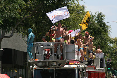 Micky's Bar fire truck WEHO gay Pride 2010