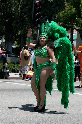 Green Vegas Showgirl WEHO Pride 2010