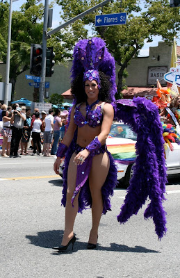 West Hollywood Pride 2010 Vegas showgirl