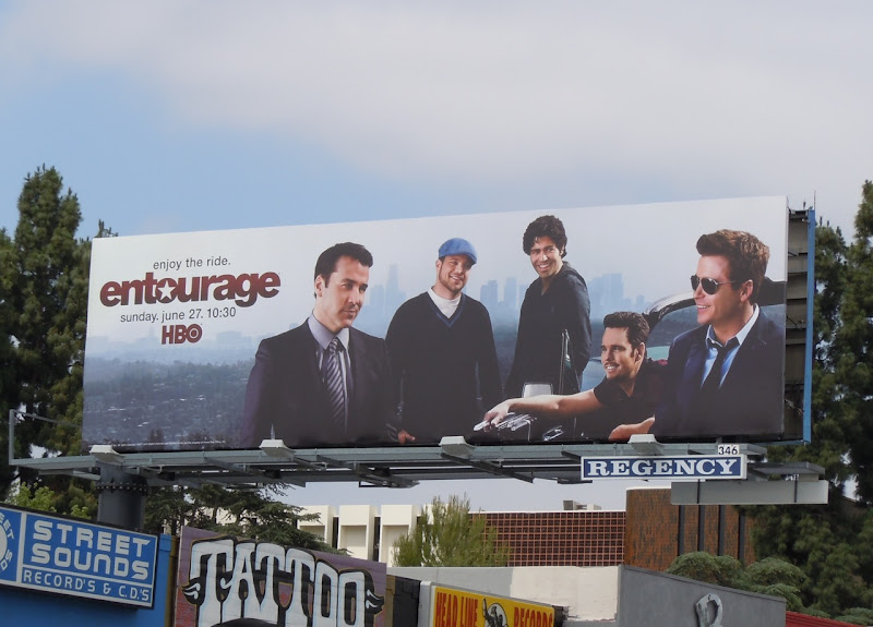 Entourage season 7 TV billboard