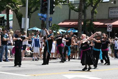 Gay ballroom dancers LA Pride 2010