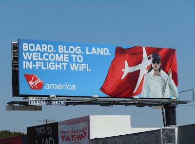 Virgin America wifi billboard