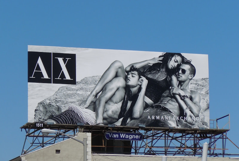 Armani Exchange hot male model billboard