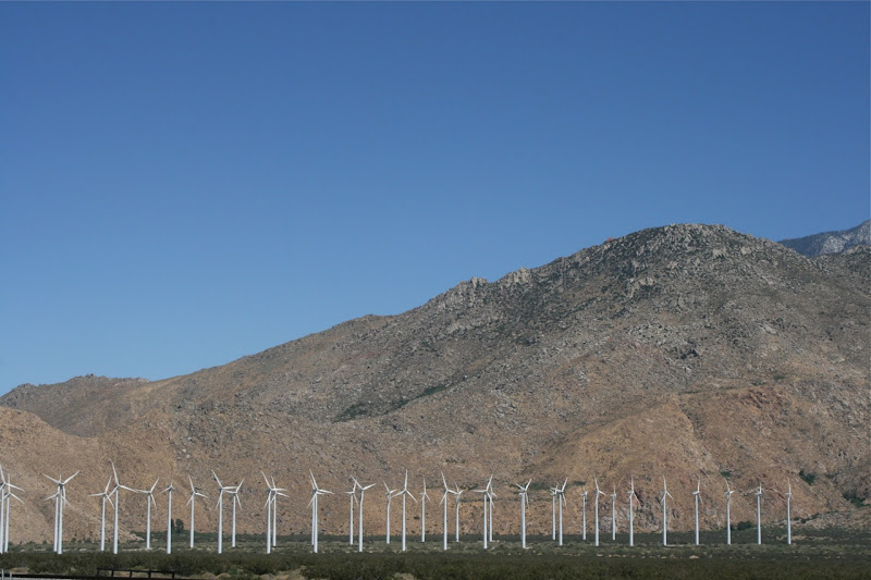 Palm Springs wind turbines