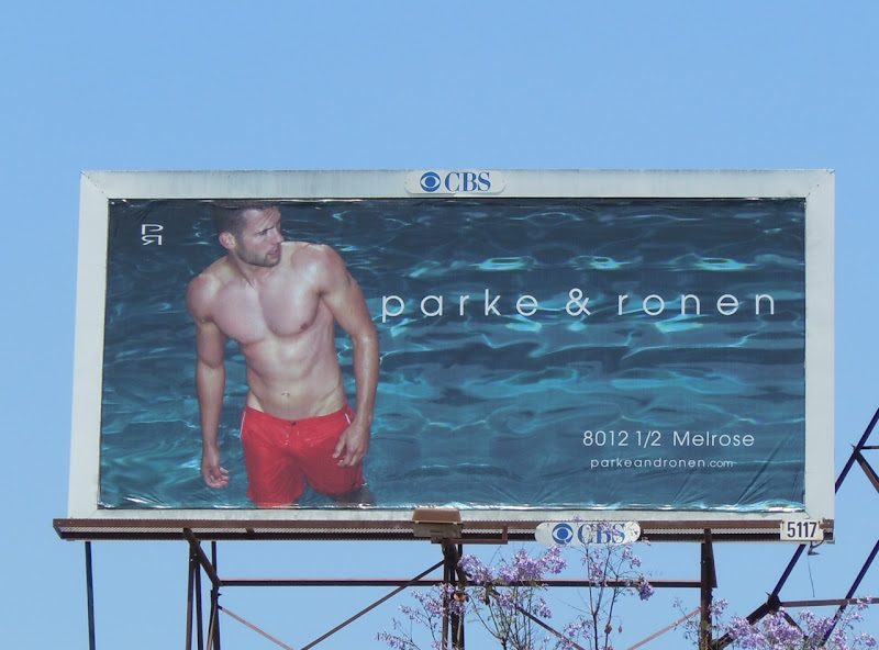 Hot male model Parker & Ronen billboard