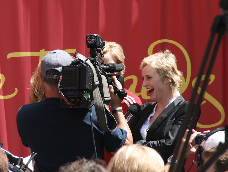 Jane Lynch laughing