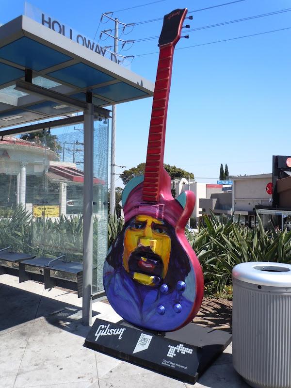 Cheech and Chong guitar Sunset Strip