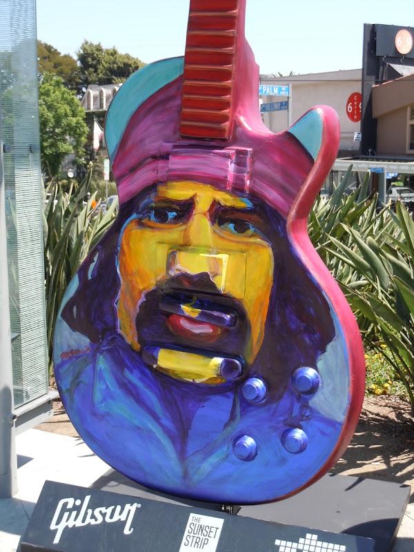 Sunset Strip Cheech and Chong guitar