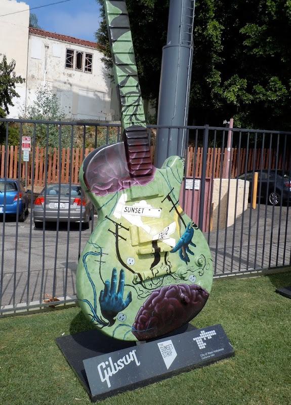 Sunset Strip giant guitar