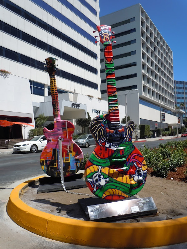 Dr Feelgood guitar sculpture Sunset Strip