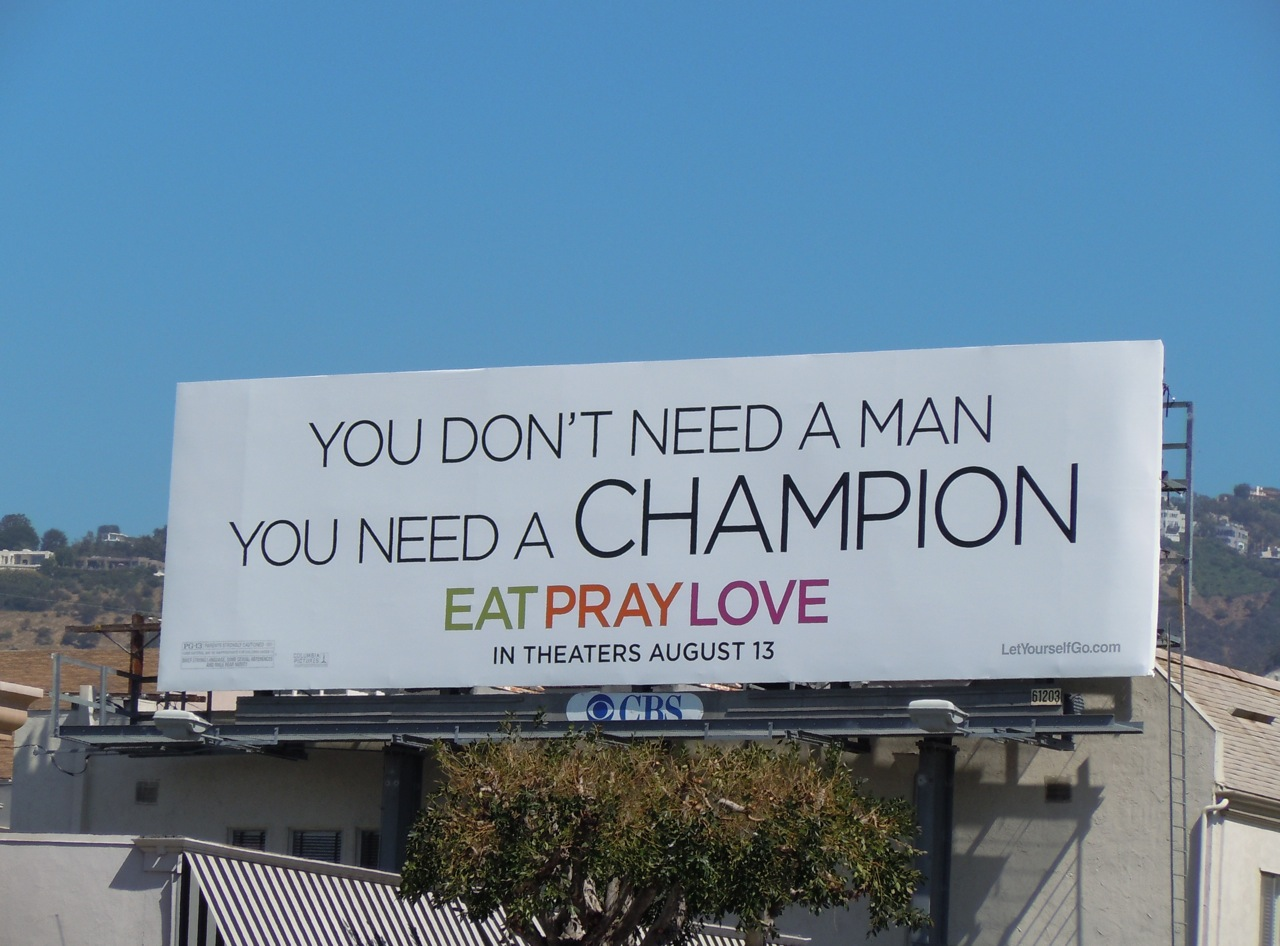 Daily Billboard: You Don't Need A Man Eat Pray Love ...