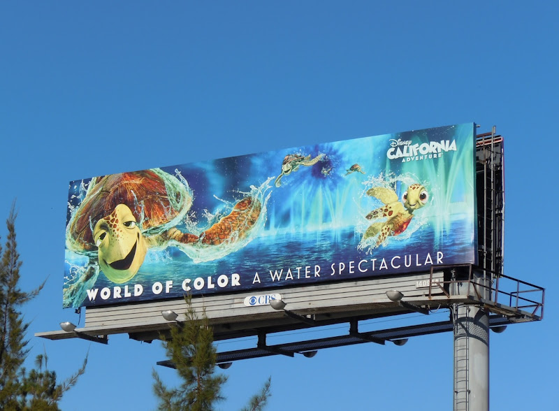 Disney World of Colour Nemo billboard