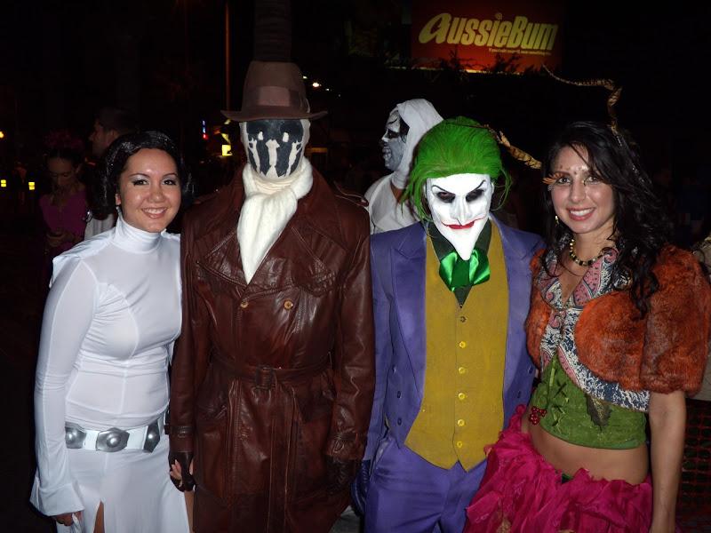 Halloween Rorschach and Joker costumes