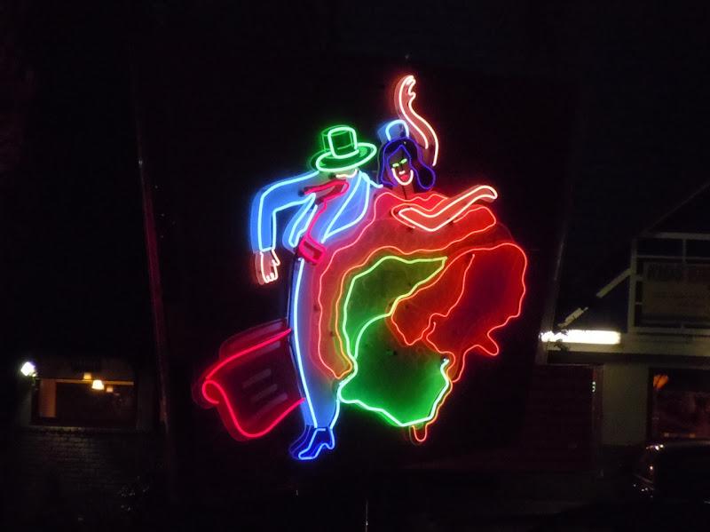 Route 66 Lights Neon Fiesta night