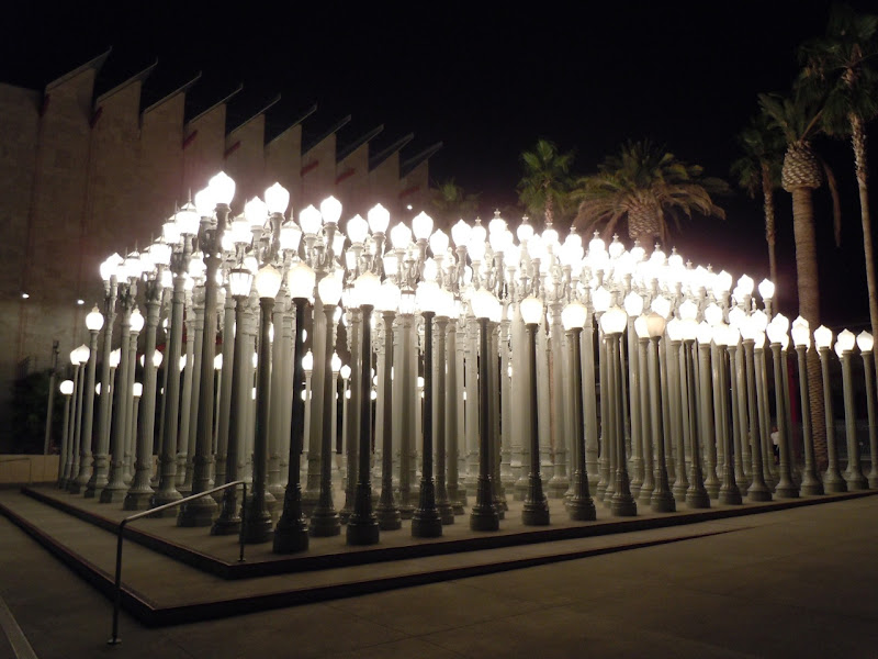 Nighttime Urban Light LACMA