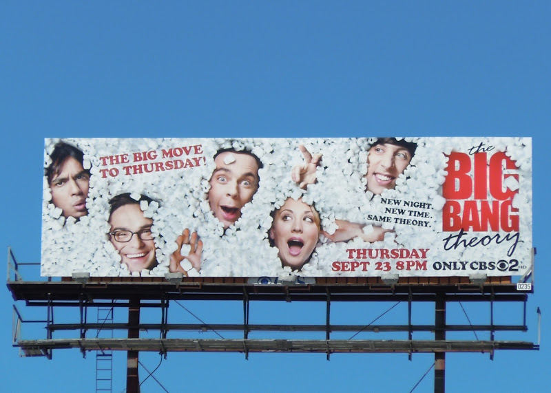 Big Bang Theory series 4 TV billboard