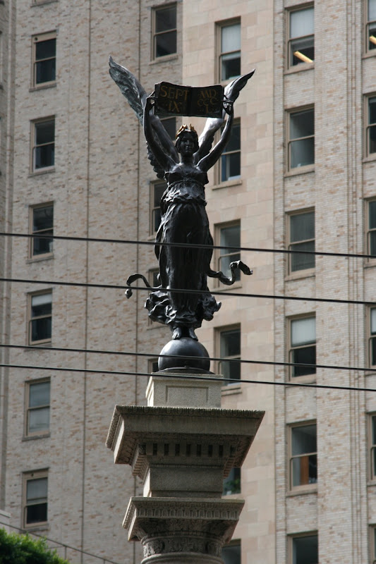 Angel atop Native Son Monument