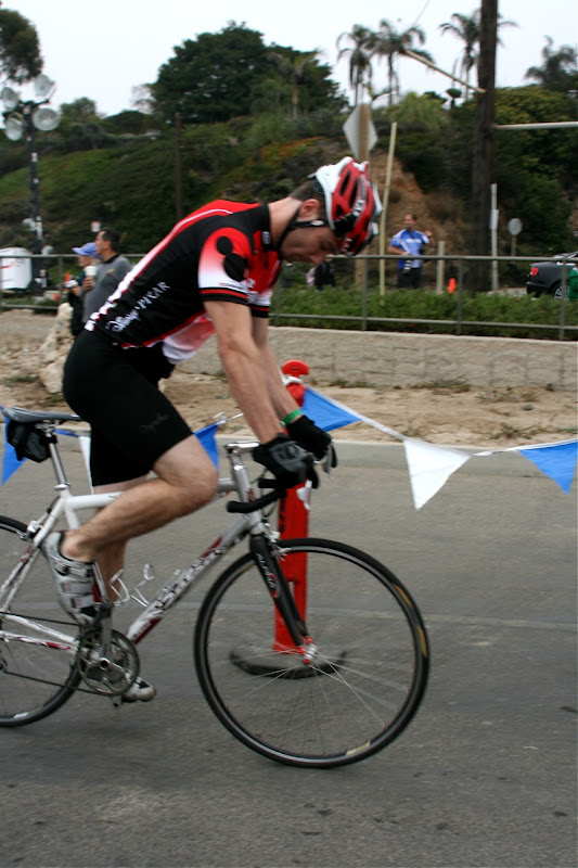 Luke Macfarlane cycling Malibu Triathlon 2010