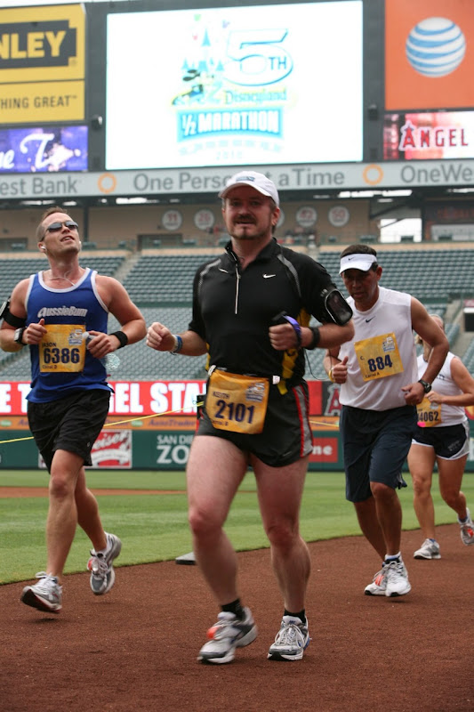 jason at Angel Stadium, Disney Half Marathon