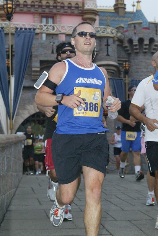 Jason running Disneyland Half Marathon 2010