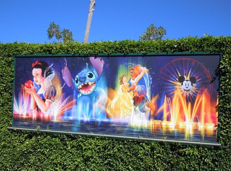 World of Color banner Disneyland