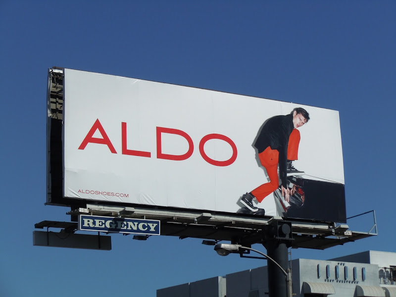 Funky aldo shoes piano billboard