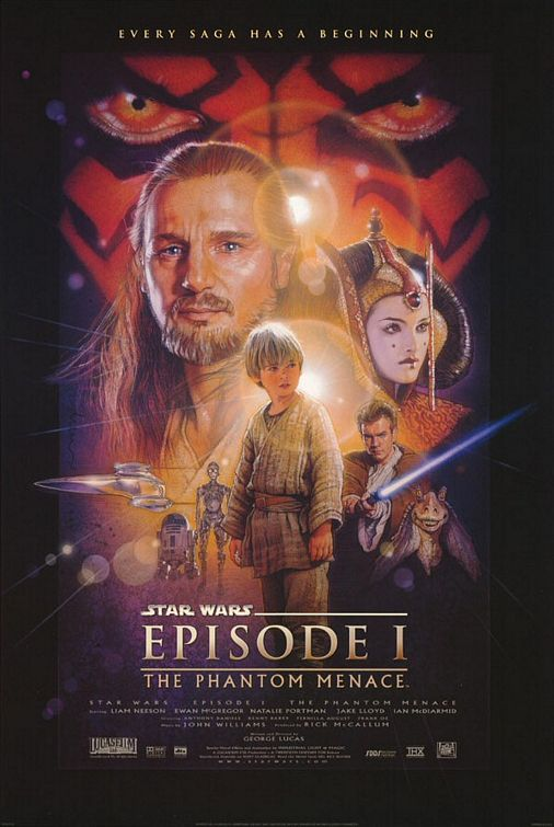 Star Wars The Phantom Menace poster