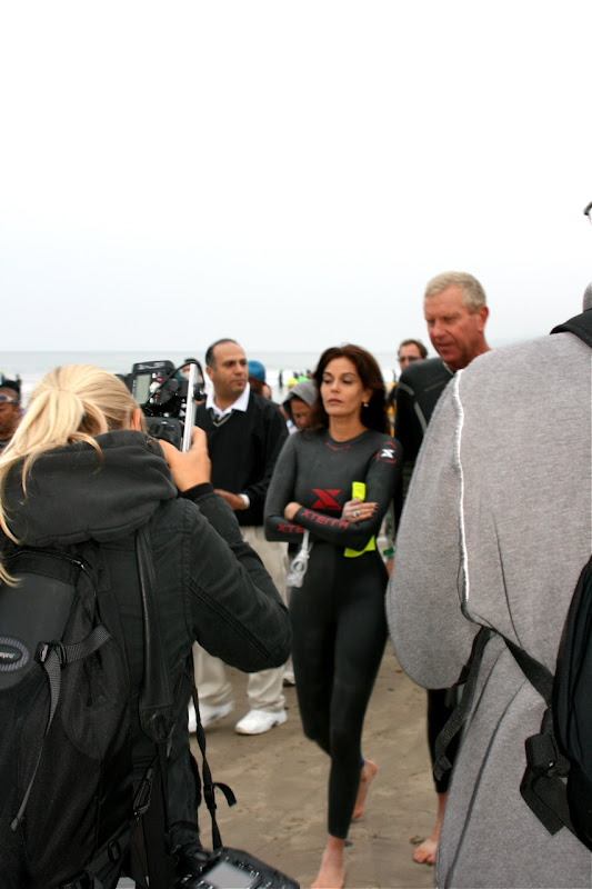 Teri Hatcher Zuma Beach Malibu 2010