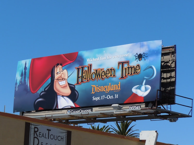 Disneyland Halloween Time Hook billboard