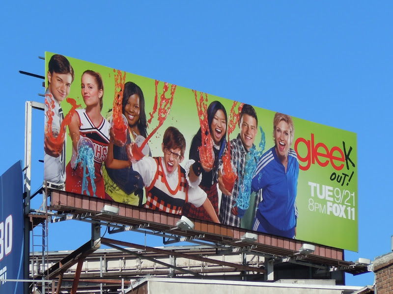 Glee slushie TV billboard