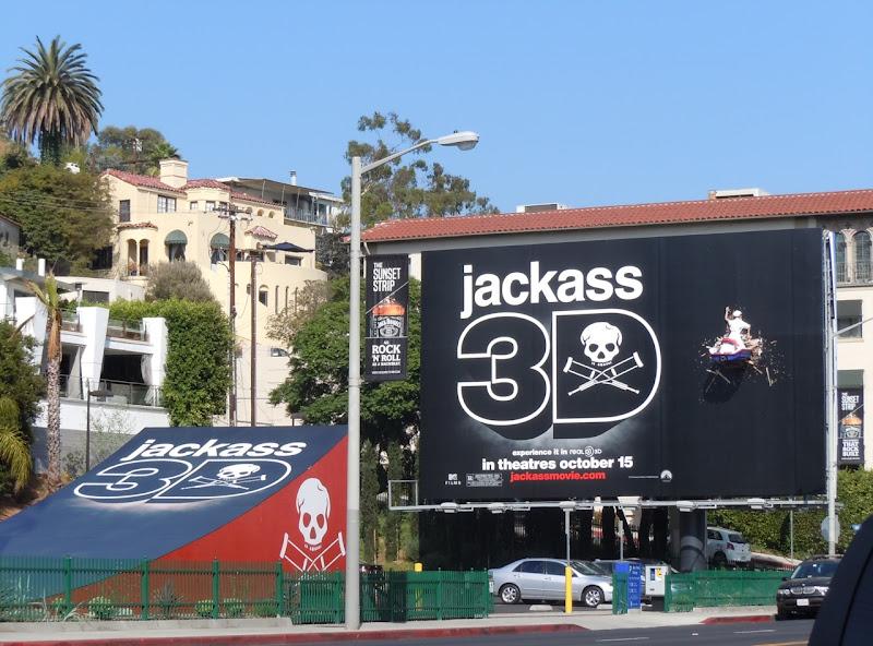 Jackass 3D jet ski ramp billboard
