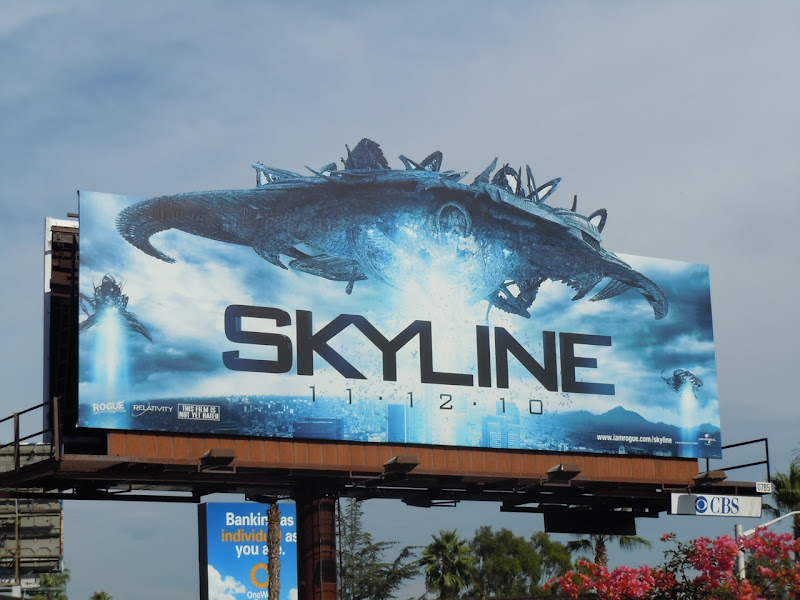 Skyline movie billboard