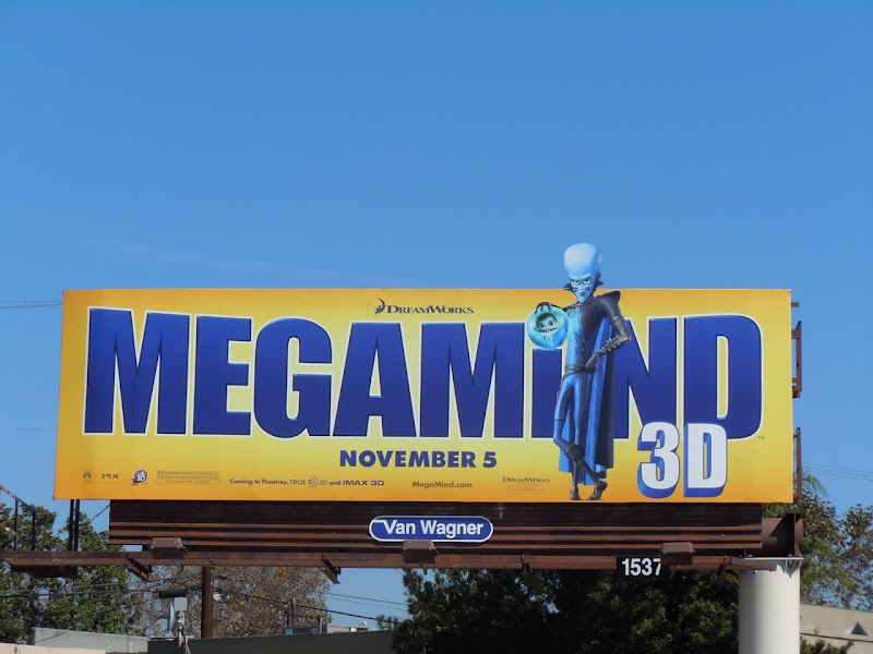 Megamind 3D movie billboard