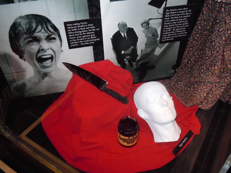 Original Psycho movie props display