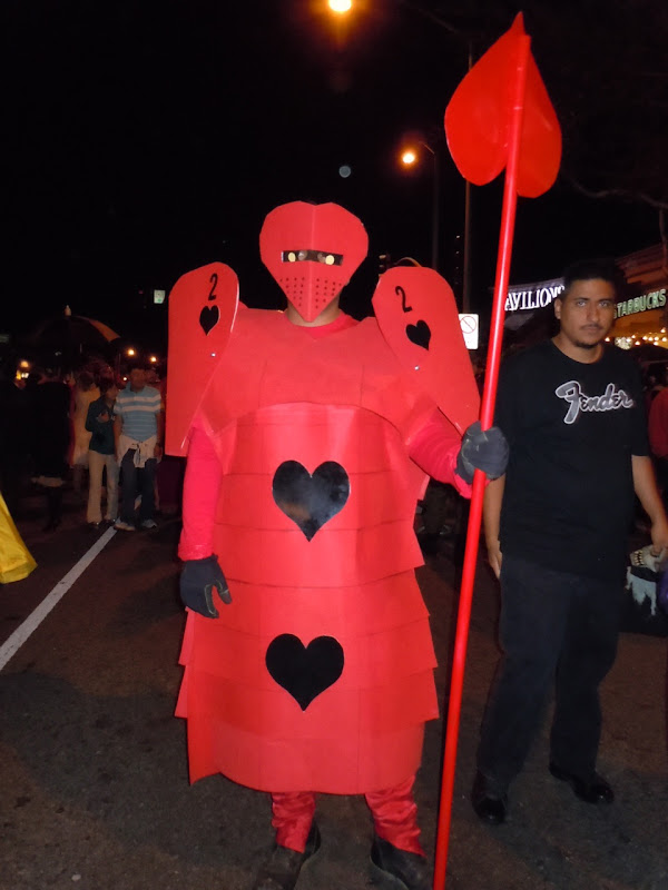 Red Queen soldier card West Hollywood Halloween