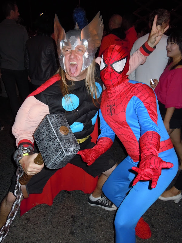 West Hollywood Halloween Carnaval Thor and Spider-man 2010