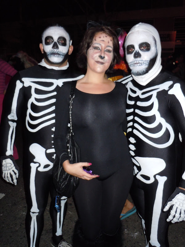 West Hollywood Halloween Carnaval skeletons