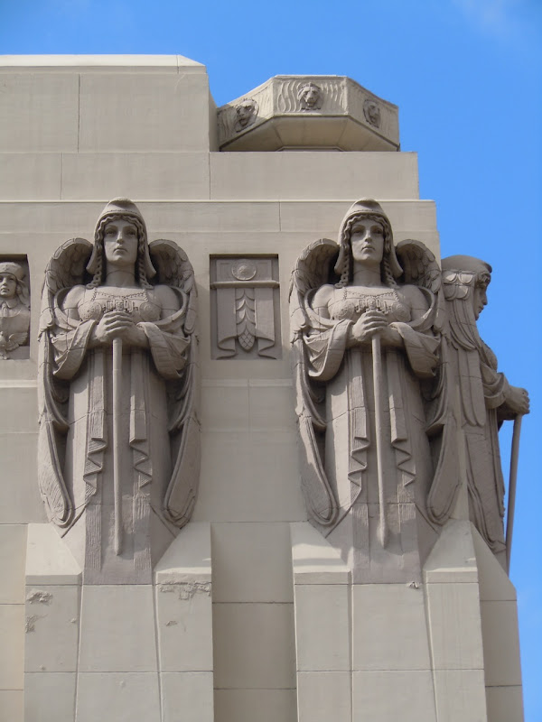 Neo-Gothic Park Plaza Hotel angels