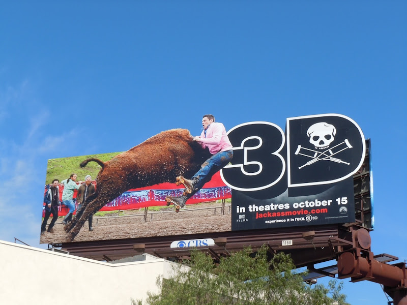 Jackass 3D bull billboard