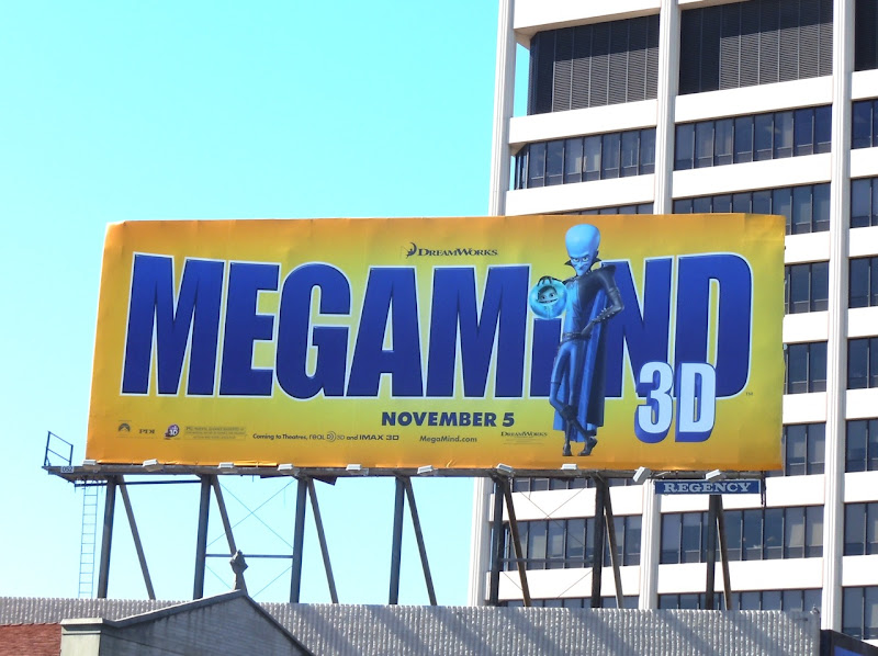 Megamind film billboard