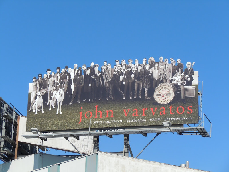 John Varvartos fashion billboard