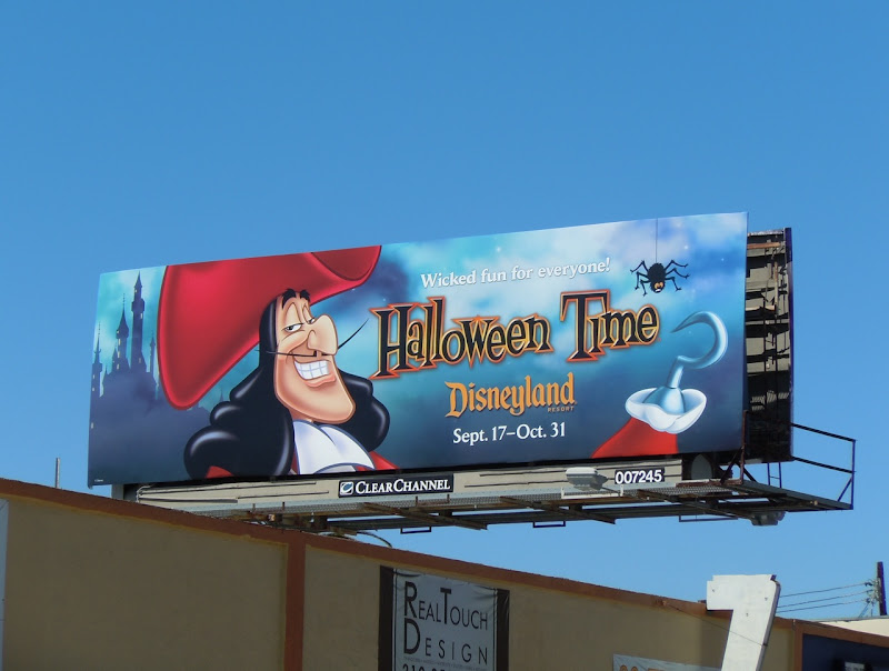 Captain Hook Disneyland Halloween billboard