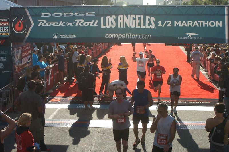 ock 'n' Roll LA Half Marathon Finish Line