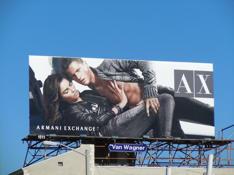 Armani Exchange hot models billboard