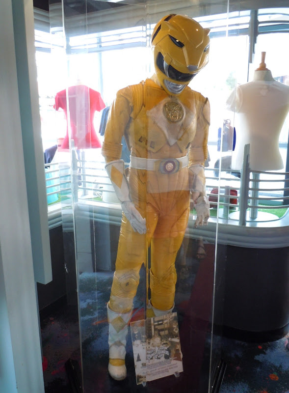Power Rangers movie yellow costume display