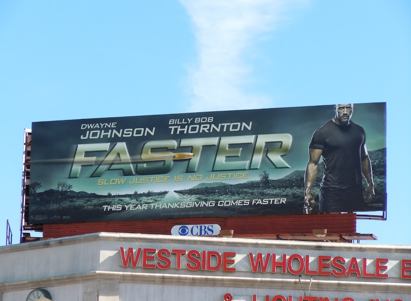 Faster movie billboard