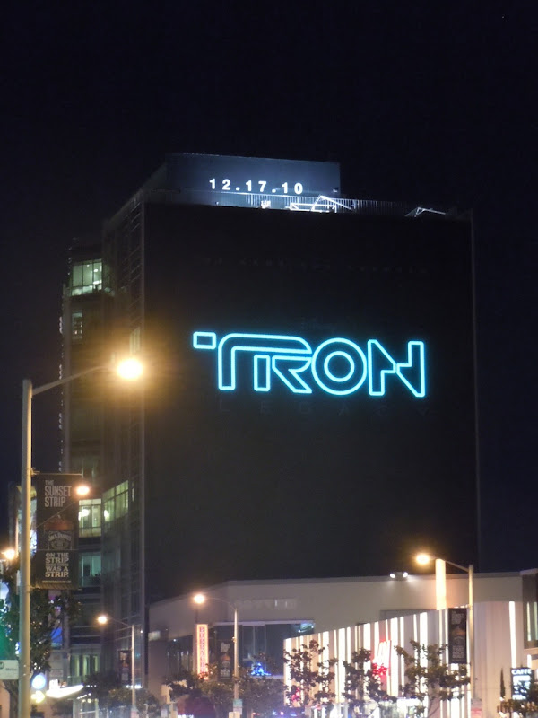 Tron Legacy teaser billboard Sunset Strip