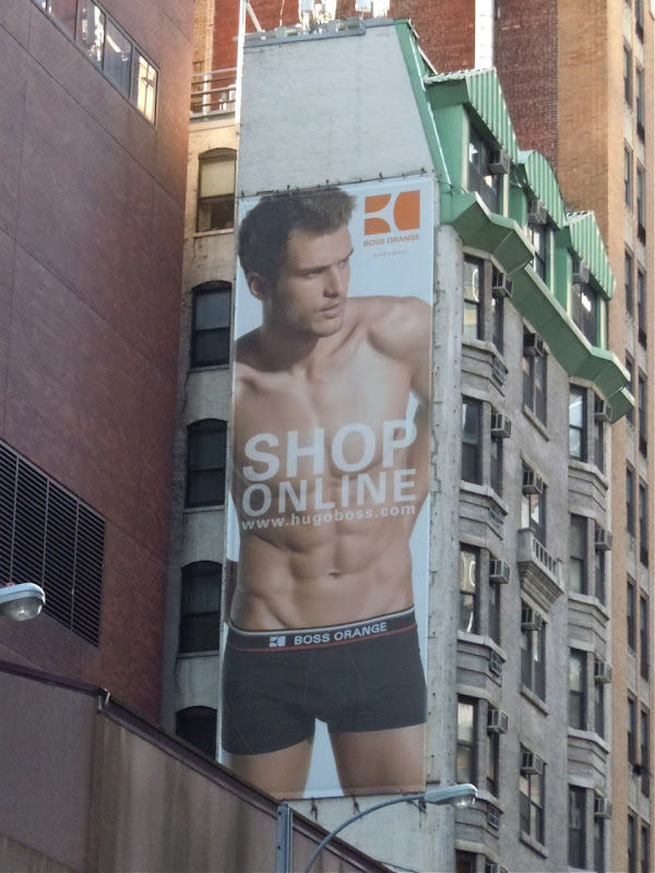 Hugo Boss male underwear billboard