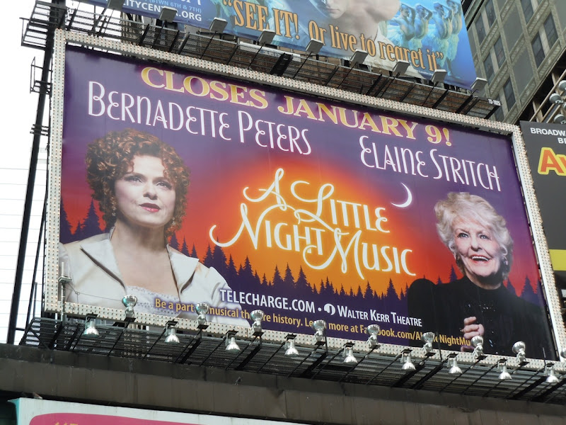 A Little Night Music Broadway billboard