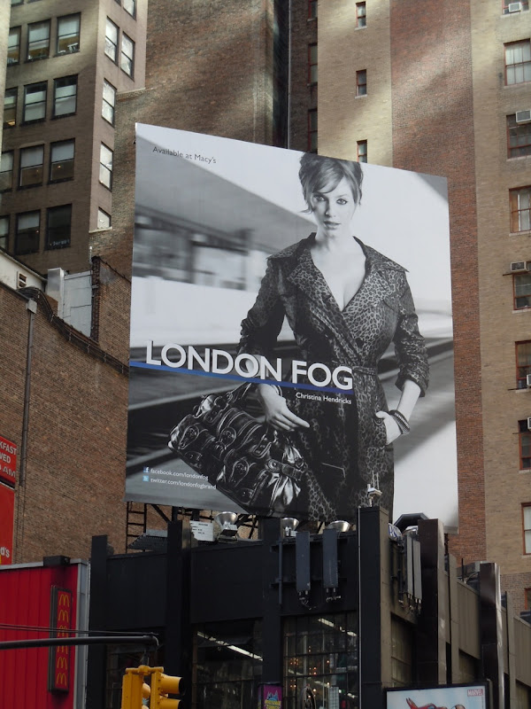 London Fog Christina Hendricks billboard
